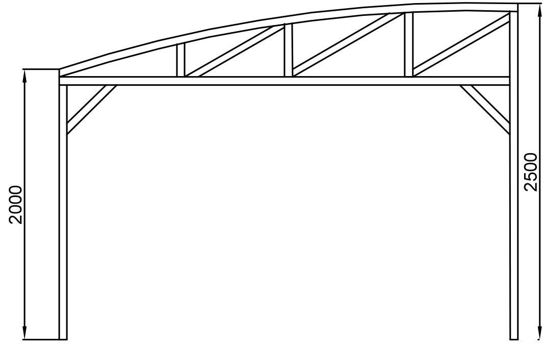 Односкатные навесы из поликарбоната своими руками фото чертежи 66
