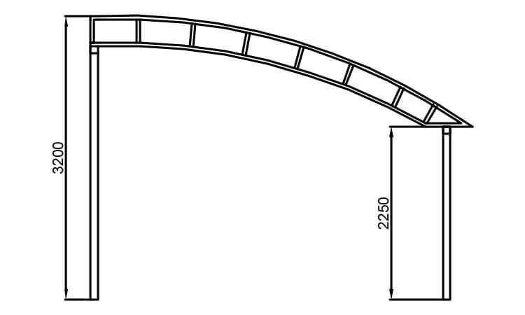 Односкатные навесы из поликарбоната своими руками фото чертежи 85