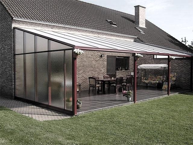 Дизайн навеса к дому